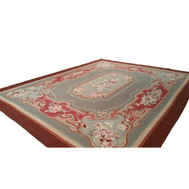 Needlepoint Aubusson Design Handmade Rug - Infuse a touch of elegance to high-traffic areas of your home with this durable...