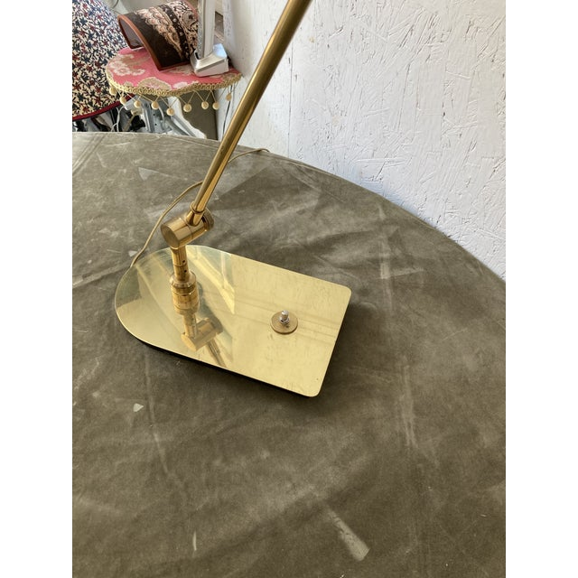 Mid Century Solid Brass Pharmacy Desk Lamp For Sale - Image 4 of 9