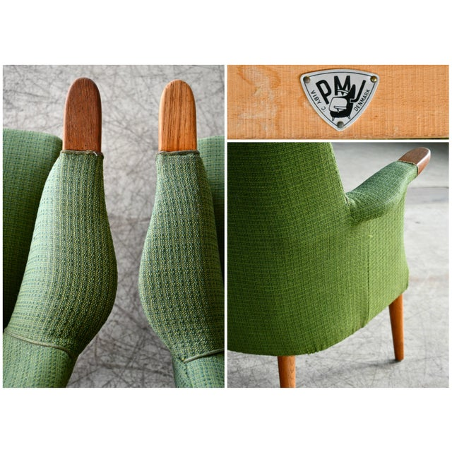 Wood Danish 1960s Hans Wegner Mama Bear Style Lounge Chairs by Poul Jessen - a Pair For Sale - Image 7 of 13