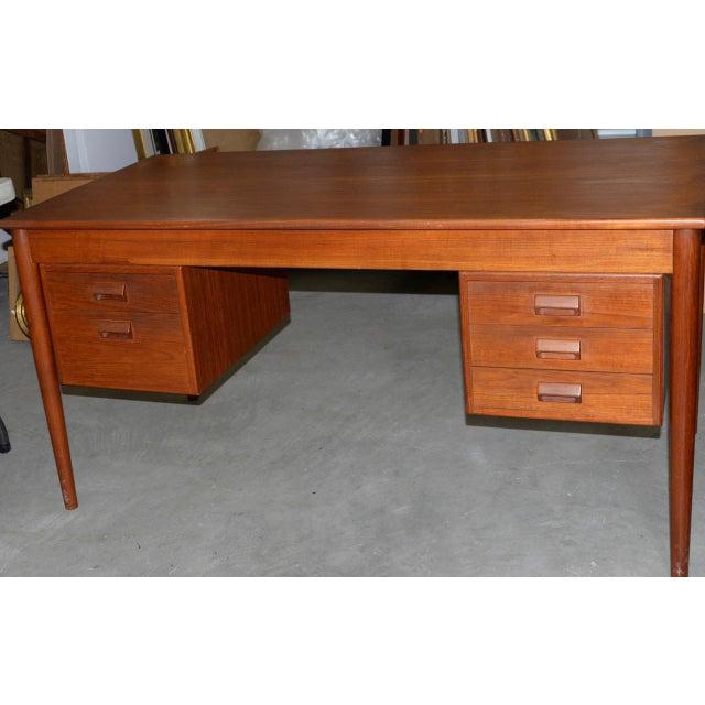 Teak Vintage Danish Modern Teak Desk by Børge Mogensen for Søborg Møbler C.1960s For Sale - Image 7 of 10