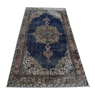 Vintage Turkish Oushak Rug - 3′6″ × 6′11″ For Sale