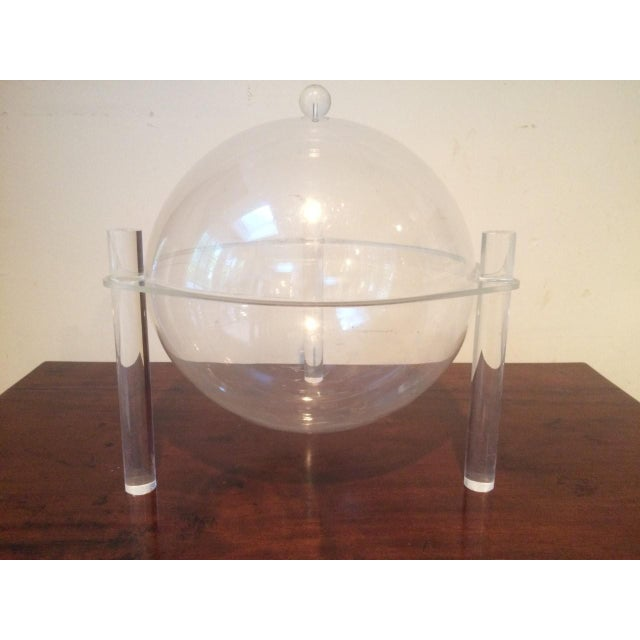 Transparent Mid-Century Lucite Covered Bowl For Sale - Image 8 of 8