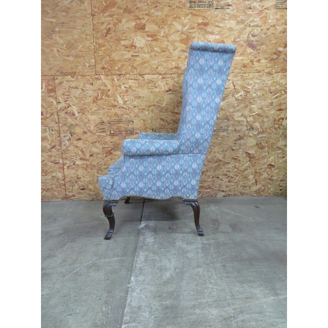 Chippendale Chippendale Highback Wing Chair For Sale - Image 3 of 6