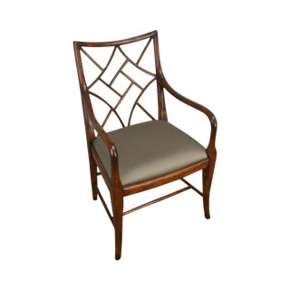 Theodore Alexander Mahogany Chinese Whispers George III Chippendale Armchair For Sale