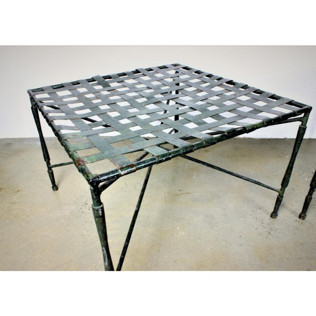 John Salterini Architectural Iron Benches - A Pair - Image 3 of 5