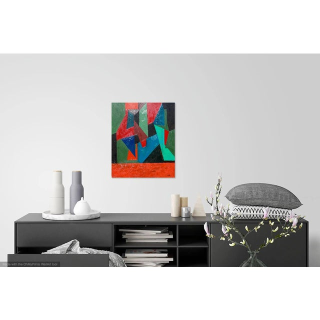 2010s Contemporary Painting, Abstract Geometry For Sale - Image 5 of 8