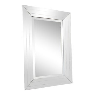 1970 Pace Collection's Beveled Wall Mirror For Sale