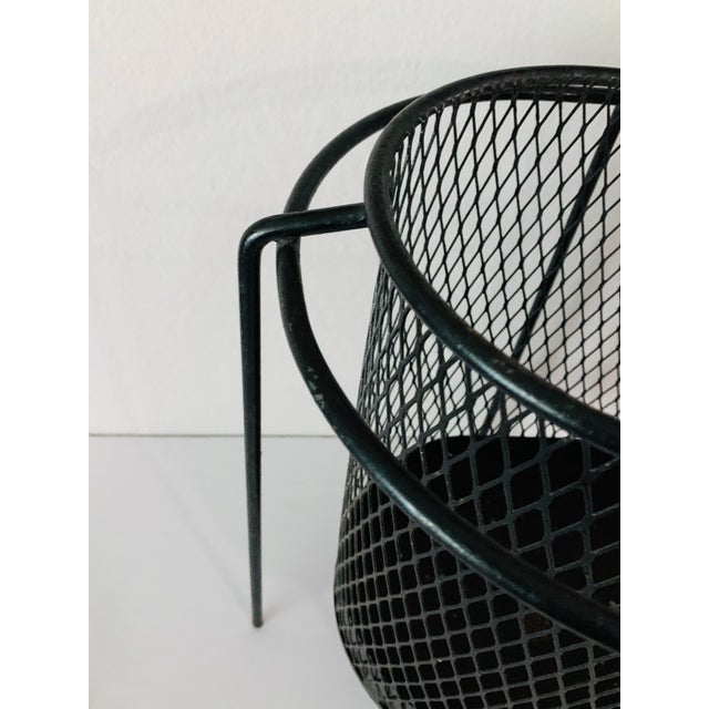 Maurice Duchin Floating Iron Mesh Wastebasket Trash Can For Sale - Image 4 of 12