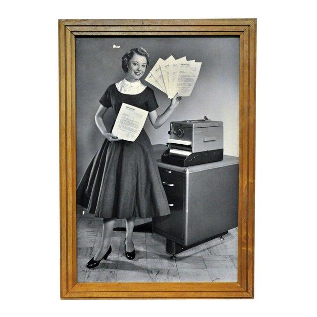 Framed 1956 Kodak Verifax Copier Ad III - Image 1 of 2