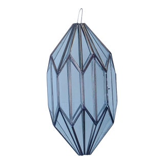 1960s Mexican Handmade Moroccan Style Clear Glass Pendant Light