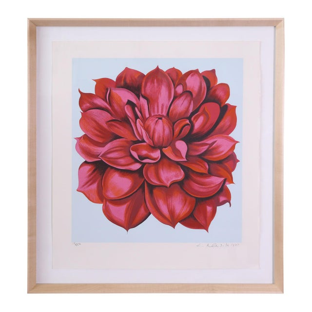 """Signed Serigraph """"Red Dahlia"""" by Lowell Nesbitt For Sale In Houston - Image 6 of 6"""