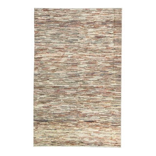 """Contemporary Hand Woven Rug - 3'8"""" X 5'10"""" For Sale"""