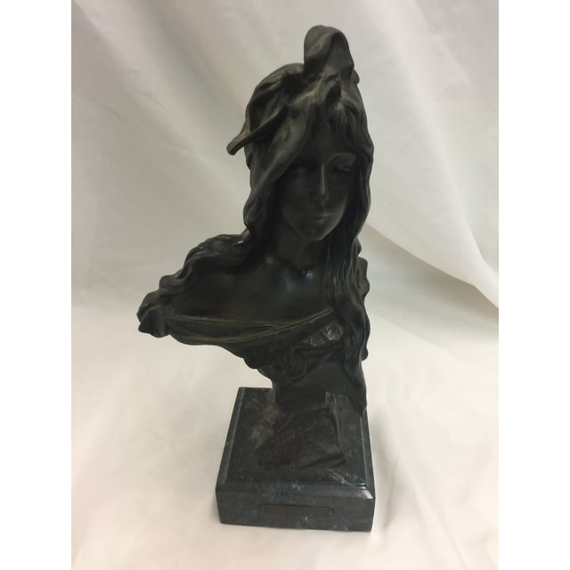 Gold Villanis Bronze La Bohemienne Sculpture For Sale - Image 8 of 8