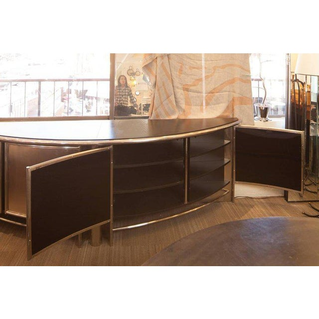 Mid-Century French Industrial Wood, Steel and Chrome Buffet - Image 2 of 5