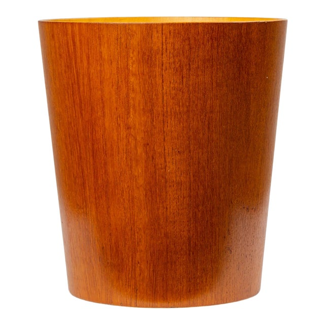 Rainbow Wood Products Teak Wastebasket by Martin Åberg For Sale