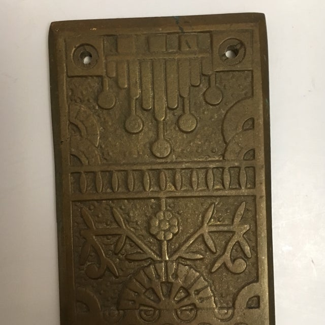 Bronze Vintage Door Push Plate For Sale - Image 7 of 8