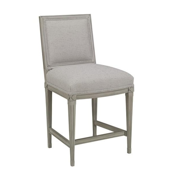 Not Yet Made - Made To Order Chaddock - Delphine Counter Stool - Gray For Sale - Image 5 of 5