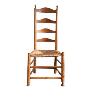 Circa 1790 New England Ladder Back Side Chair
