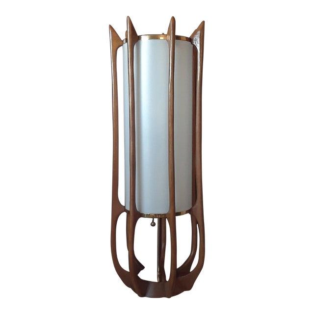 Adrian Pearsall Modeline Teak Rocket Lamp