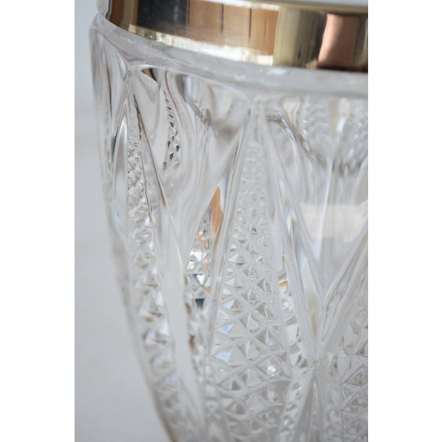 Vintage Crystal and Silver Platted Ice Bucket - Image 5 of 6