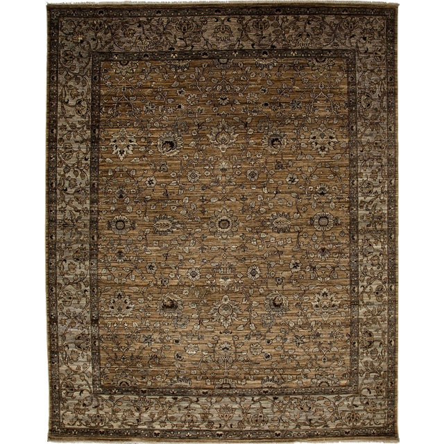 """Ziegler Hand Knotted Area Rug - 7'10"""" X 9'9"""" For Sale - Image 4 of 4"""