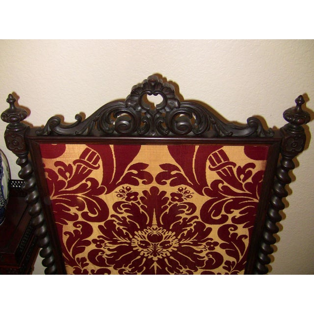 Mid 19th Century Mid 19c American Rococco Revival Fire Screen For Sale - Image 5 of 10