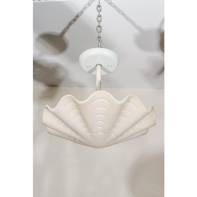 """This stylish and chic petit """"sand dollar"""" (as it was called by Sirmos) shell-form chandler dates to the 1970s and was..."""