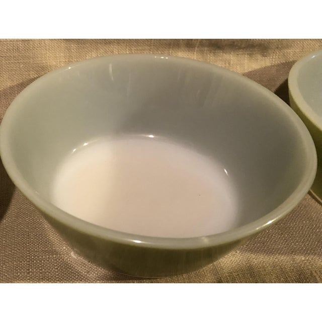 1950s Federal Avocado Green Cereal Bowls - Set of 4 For Sale - Image 5 of 8