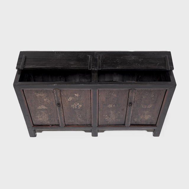 Wood Chinese Four Seasons Painted Coffer For Sale - Image 7 of 13