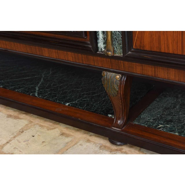 Italian Modern Palisander and Marble Bookcase, Attributed to Paolo Buffa For Sale In Miami - Image 6 of 9