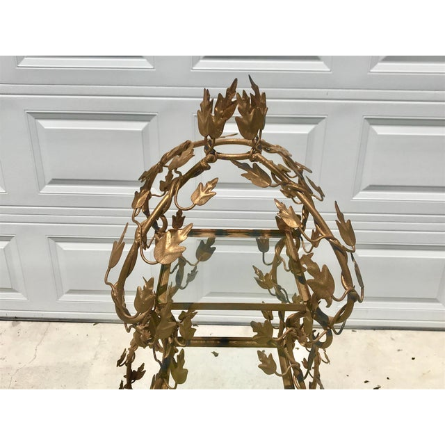 1940's French Provincial Style Italian Gold Gilt Vine Four Shelf Etagere For Sale - Image 4 of 12