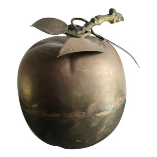 Brass Apple Lidded Box For Sale