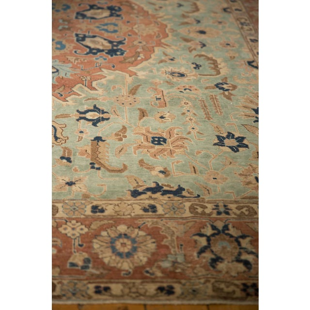 """Vintage Distressed Tabriz Carpet - 8'5"""" X 10'7"""" For Sale - Image 9 of 12"""
