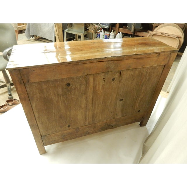 Wood Narrow French Provincial Walnut Buffet For Sale - Image 7 of 9