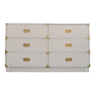 1960's Mid-Century Hollywood Regency Campaign Dresser For Sale