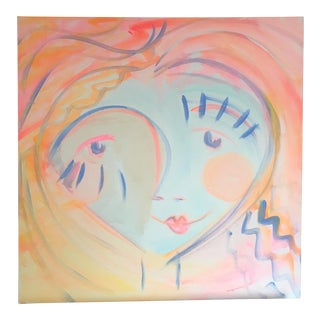 """Abstract Acrylic Painting """"Happy"""" by Alice Miles"""