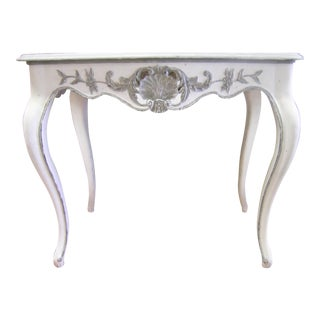 Antique Louis XV Hand Carved Console Table For Sale