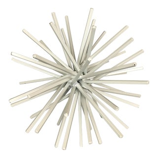 Modernist Starburst Metal Tabletop Sculpture