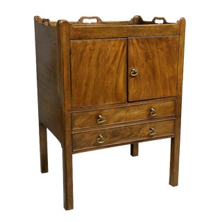 George III Mahogany Bedside Cabinet For Sale