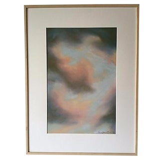 Robert Jones 'Clouds in Bali' Pastel Painting