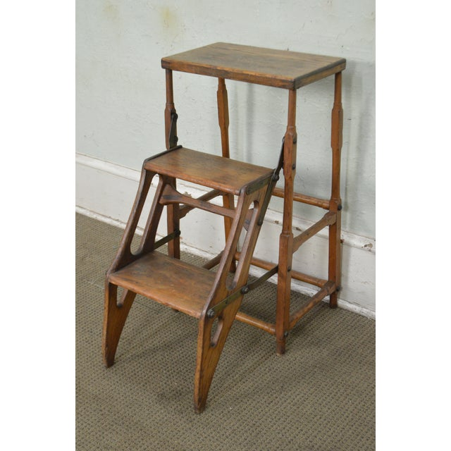 *STORE ITEM #: 17595 Antique 19th Century Folding Stepping Stool AGE / ORIGIN: Approx. 125 years, America DETAILS /...