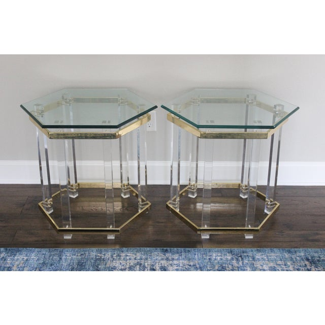 Charles Hollis Jones Style Lucite Tables - A Pair - Image 6 of 10