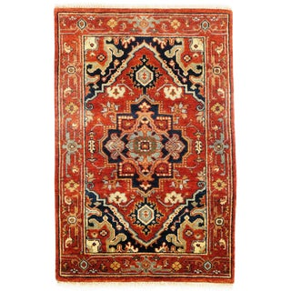 "Traditional Pasargad N Y Fine Serapi Design Hand-Knotted Rug - 2'8"" X 4'"