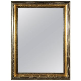 Paul Marra Design Cove Mirror in Gold Ceruse For Sale