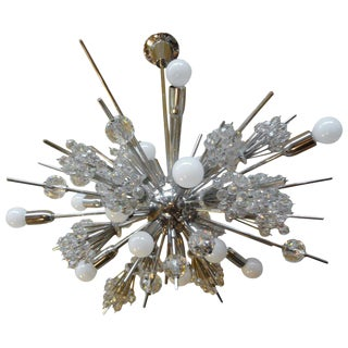 1960s Mid Century Modern Lobmeyr Metropolitan Opera Exploding Star Chandelier For Sale