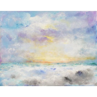 'Sunset, San Francisco Bay' by Victor Papkov, Impressionist Seascape, Russian American For Sale