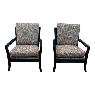 1990s Modern Lounge Chairs - a Pair For Sale