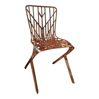 David Adjaye for Knoll - Washington Skeleton Aluminum Side Chair For Sale