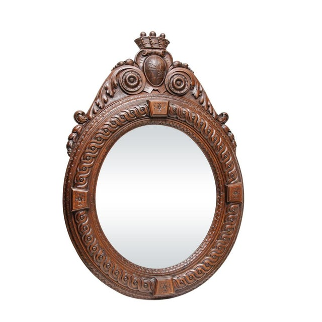 Italian Antique Wall Mirror For Sale In West Palm - Image 6 of 6