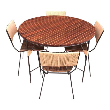 Beautiful Mid Century Modern Dining Set by Arthur Umanoff For Sale